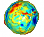 Exaggerated gravity map of the Earth
