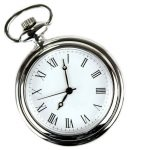 Precision timekeeping - silver pocket watch